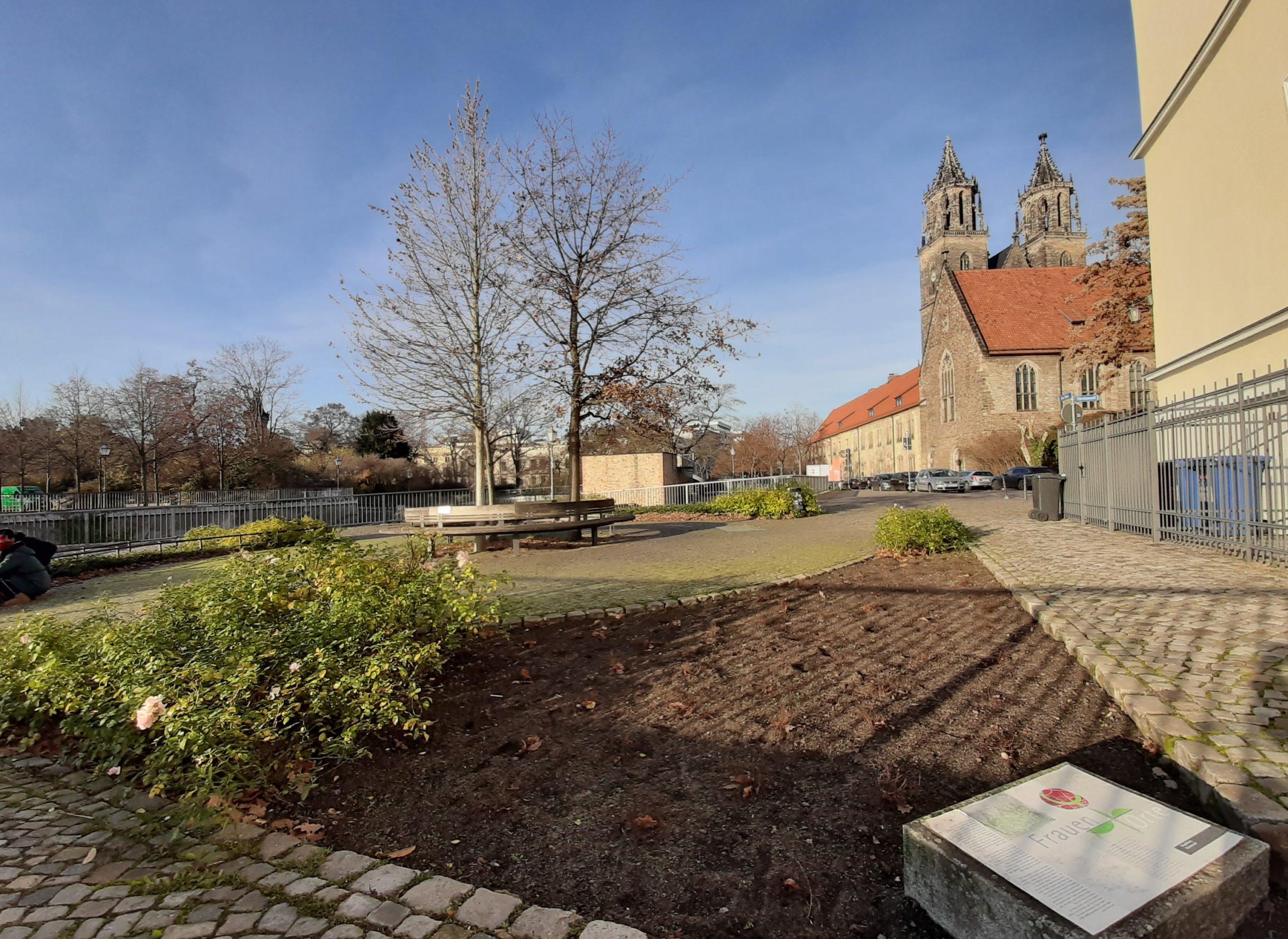 FrauenOrt Ottoninnen Magdeburg An der Elbe Fürstenwall / Höhe Dom