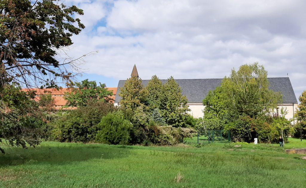 FrauenOrt Kloster Helfta Blick vom Klostergarten aus