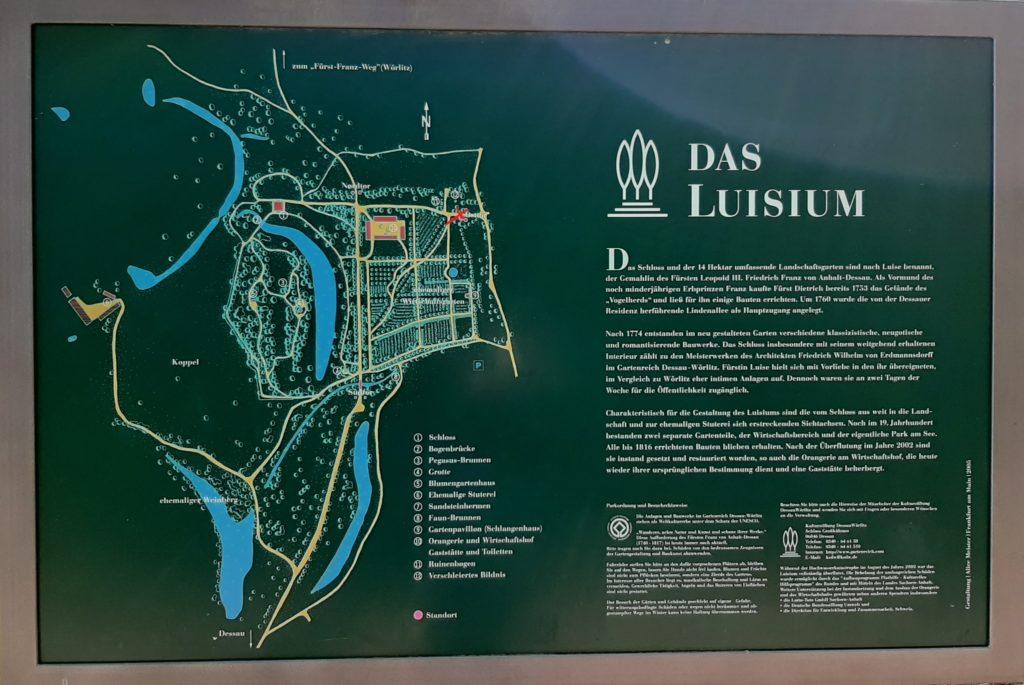 FrauenOrt Dessau Schloss Luisium Tafelstandort